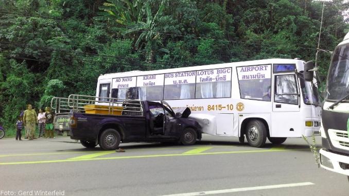 Unfälle in Ao Nang und Krabi